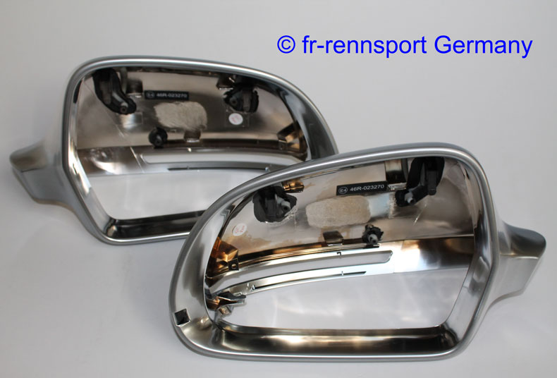 Audi Chrome Mirror Covers A4 S4 RS4 B8 08 09 Sedan Avant Alu Matt Alloy Cap